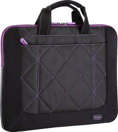 Targus - Pulse Laptop Sleeve - Black/Purple