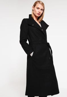 TOM TAILOR DENIM Classic coat - black for £119.99 (26 11 16) with free  delivery at Zalando 5b860a0673f