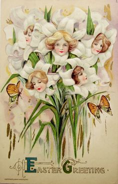 postcardiva postcard blog: Winsch SCHMUCKER Easter Fantasy Postcards