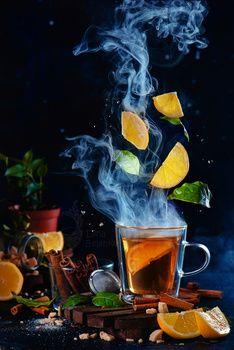 Lemon tea (Really Hot) by Dina Belenko Still Life Photography, Food Photography, Levitation Photography, Photo Fruit, Tee Kunst, Oil For Deep Frying, Dried Mangoes, Tea Art, Coffee Art