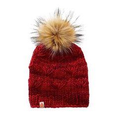 c66e92273 Shit That I Knit Motley Beanie - Cardinal - Faux Fur Pom