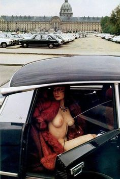We want a private chauffeur. (fuck you very much) Citroen Ds, Colani, E Type, Car Girls, Nude Photography, Fashion Photography, Vintage Cars, Classic Cars, Pin Up