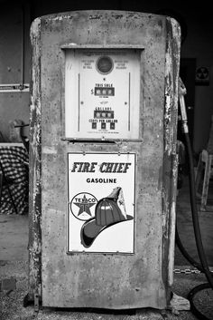 Vintage Black and White Photography | Vintage-Gas-Pump-Black-and-White-Photography.jpg?v=1329559080