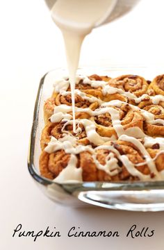 Yes, please! 1 Bowl VEGAN Pumpkin Cinnamon Rolls! Simple, spicy, delicious #vegan #pumpkin #fall from Minimalist Baker