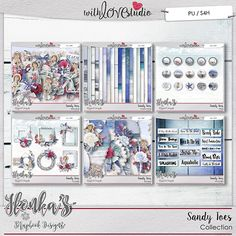 Sandy Toes digital scarpbooking collection from Ilonka's Scrapbook Designs. This wonderful beach inspired kit is a great addition to your summer digi stash. This nautical kit in whites, blues and reds with a vintage feel will add that special touch to your layouts
