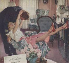 """At home"" by John Gannam (1907-1965)"