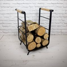 Iron And Oak Log Holder / Carrier Medium by escafell on Etsy