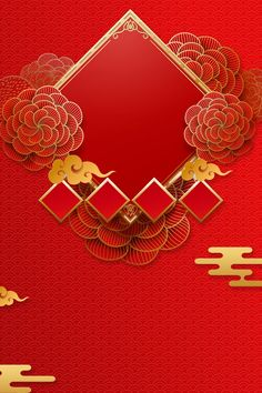 New Spring New Year Red Chinese Style