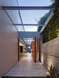 Large door, Entrance - Outside Nightindale Drive By Dugally Oberfeld Inc