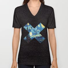 Starry+xx+Night+Unisex+V-Neck+by+Evan+Krushelnycky+-+$24.00