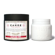 "Hollow Tree 1871's ""Canoe"" coconut wax candle, specially crafted for Canada's 150th year -- available at Labrador Supply Co."