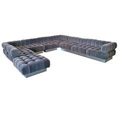 'Deep Tuft' Modular Sofa by Harvey Probber | 1stdibs.com