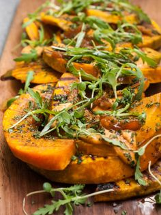 Grilled Kabocha with Harissa & Mint made by Julie Lee for One Part Plant's For Reals Meals. YUM!