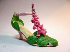 New Rare Just The Right Shoe Foxglove Retired Mini Collectible COA Jtrs | eBay