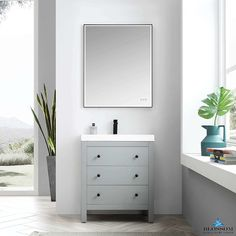 Blossom Vanity ➤➤➤ York Freestanding Bathroom Cabinet ☑️ Color Matte Grey, Acrylic Sink Soft Closing Drawers ⚡ Discount In Our Store 24 Inch Vanity, Single Sink Bathroom Vanity, Drawer Design, Storage Design, Small Bathroom Colors, Small Bathrooms, Bath Cabinets, Modern Baths, Cabinet Colors