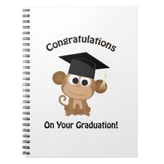 congratulations on your graduation monkey note books