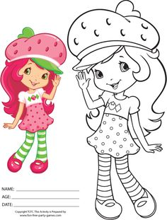 Free Coloring Pages Of Strawberry Shortcake 342