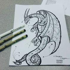 Geometric Dragon - Fit for tattoo