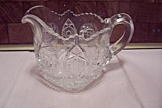 Crystal Pattern Glass Creamer