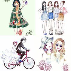 ilustração-maelle-paris #desenho #ilustração #ilustradora #fashion #paris
