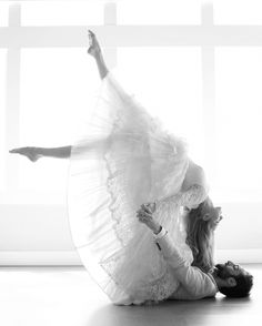 Best wedding shoot ever. I've yet to do acro with my partner, but maybe someday he'll come around. Acro has such thought, trust, connection and strength behind it.