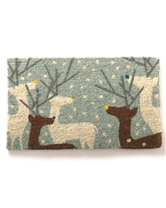 Link doesnt work. Garnet Hill Reindeer Doormat--make into punchneedle pattern