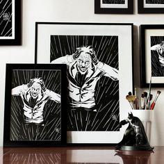 joker, DrawGeek, balck and white