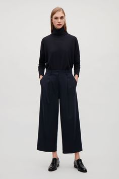 COS | Wide-leg flannel trousers
