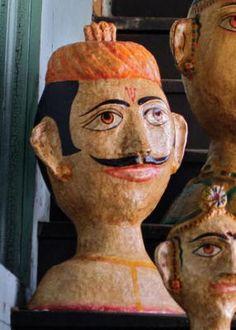paper mache heads! I love faces and paper mache!