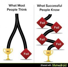 The road to success is paved with failures