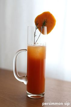 Persimmon Sip - I have tons of persimmon puree in my freezer just begging to be used. This drink sounds delish!