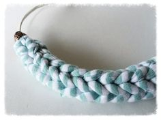 Braided necklace by TheMintButton on Etsy Braided Necklace, Black Braids, Crochet Necklace, Stockings, Buy And Sell, Mint, Trending Outfits, Button, Unique Jewelry