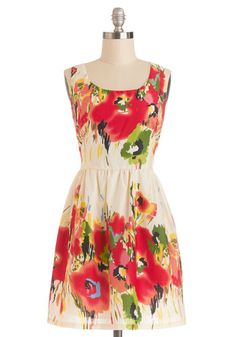 Paint It the Truth? Dress, #ModCloth