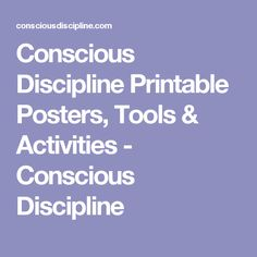 It's just an image of Crafty Conscious Discipline Posters