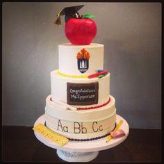 Teacher themed graduation cake  Cami's Cake Co. in Eudora, KS www.facebook.com/camiscakeco