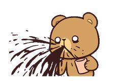 LINE Creators' Stickers - Milk & Mocha : Playful (Animated) Example with GIF Animation Cute Cartoon Images, Cute Couple Cartoon, Cute Love Cartoons, Cute Cartoon Wallpapers, Cute Images, Cute Bear Drawings, Cute Kawaii Drawings, Cute Love Gif, Cute Cat Gif