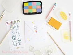 Simple Stamping Envelope Decorating