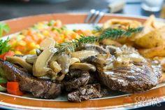 Receita de Bife com molho de champignon em receitas de carnes, veja essa e outras receitas aqui!
