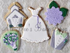 Beautiful wedding cookies from Ali Bee's Bake Shop <3