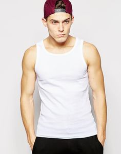 """Vest by Solid Soft, ribbed jersey Round neck Regular fit - true to size Machine wash 100% Cotton Our model wears a size Medium and is 188cm/6'2"""" tall"""
