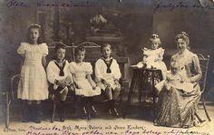 Marie Valerie with her children.