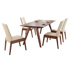 Emphasise The Handsome Styling Of Your Home With Danish Design Angled Legs And Warm Walnut Veneer Practical Roberto Rectangle Dining Table From