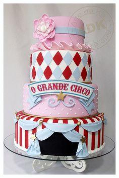 Super girly circus cake