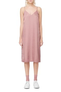 Weekday Slip Dress in Pink