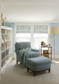 Nandini/Powder Blue #Textiles Looks like a beautiful sanctuary .