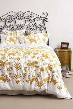 Luisa Embroidered Duvet - anthropologie.com