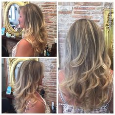 Mechas + corte y peinado - Highlights + cut and blow dry by Onda Hair team. #OndaSalon  #mechas #corteypeinado #highlights #cutandblowdry #Barcelona #Barceloneta