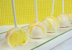 Lemon-Raspberry Cheesecake Pops