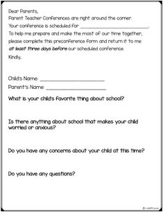 Parent Teacher Conferences  Tips For Successful And Productive