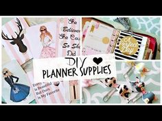 DIY Planner Supplies: Journaling Cards, Bow Clips, and Tassel! #PlanningWithBelinda - YouTube